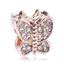 2019 New Rose Gold Blush Pink Magnolien Bloom Bead Fit Original Pandora Charms und andere Favoriten - - Diy Jewelry To Sell, Diy Jewelry Making, Diy Collier, Rose Gold Charms, Beaded Animals, Diy Necklace, Wire Wrapped Jewelry, Pandora Charms, Blush Pink