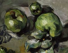 Paul Cezanne still life.  His brushmarks are so emotional.  This particular still life has greatly influenced my still life paintings.