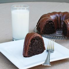 Made this last night, for a variation on a box cake it was really good and easy. Sinful Chocolate Cake --   1 box Devil's Food Cake Mix  1/2 Cup water  1/2 Cup oil  4 eggs  1 Cup sour cream  1 box instant chocolate pudding  1 16 oz. bag chocolate chips  1/2 Cup heavy whipping cream