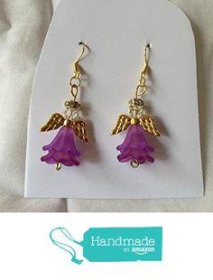 Light and Dark Purple Angel Earrings from Southern Women Crafts http://www.amazon.com/dp/B01CIUG3M8/ref=hnd_sw_r_pi_dp_25w.wb0M8HQPS #handmadeatamazon
