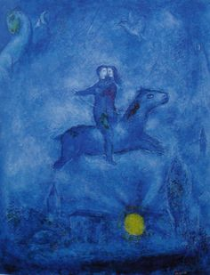 Adrift in a blue world. Marc Chagall                                                                                                                                                                                 Mais