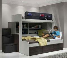 TATAT mobles a mida i més, experts en moble juvenil, dormitoris juvenils Dream Bedroom, Girls Bedroom, Bedroom Decor, Bed Design, House Design, Loft Spaces, Kid Beds, Small Rooms, Boy Room