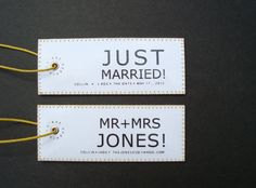 The bride and groom will go nuts for this gift.  Everyone loves attention at their wedding - these luggage tags gather congratulatory remarks during the honeymoon and beyond.