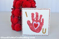 Simple Handprint Valentine's Day Keepsake