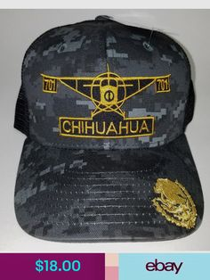 07fb4f89f910f El avion del chapo guzman 701 chihuahua hat 2 logos digital hat gray black