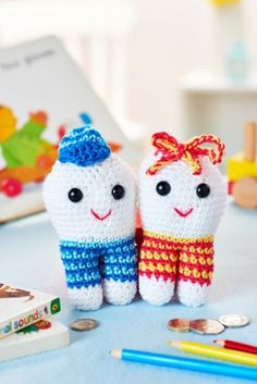 FREE #amigurumi tooth fairies pattern by Ali Campbell from LGC Knitting & Crochet issue 70