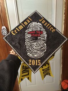 Criminal Justice graduation cap! So fun and so easy to make :)