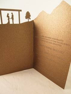 Laser cut landscape wedding invitation- http://www.classicweddinginvitations.com.au/landscape-series/ - From $5.50