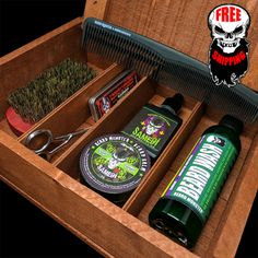 Complete Beard Kits by Beard Monster - Every Beard Grooming Product in One Wooden Box