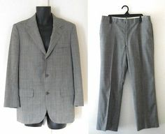 Vtg 60s Brooks Brother Men Suit 40S Mod 2 Piece 3 Button Plaid Short Pant Blazer