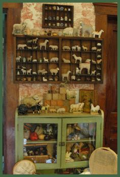 Collecting sheep,miniature baskets and pottery