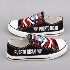 Different Types Of Sneakers Puerto Rico Pictures, Pride Shoes, Puerto Rican Flag, Puerto Rican Culture, Puerto Ricans, Canvas Sneakers, Custom Shoes, Chuck Taylor Sneakers, Vans
