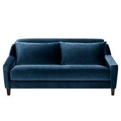 Canapé fixe 2 ou 3 places REGALIZ, velours.Fabrication française.Compact, inspiré des années 50, ce canapé aura sa place tant dans un salon que dans une chambre et tonifiera votre intérieur. Confort d'assise : accueil moelleux, soutien équilibré.Confort dossier : moelleux et enveloppant, soutien équilibré.Assise : hauteur et profondeur standard.Dimensions du canapé REGALIZ :2 places : L155 x H81 x P103 cm (1 coussin de dossier, 1 coussin d'assise et 1 coussin cale reins dim. : L138 x H47…