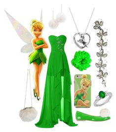 """""""Tinker Bell"""" by even-miracles-take-a-little-time ❤ liked on Polyvore featuring Tuleste, PrimaDonna, Oasis, American Apparel, Blue Nile and Disney"""