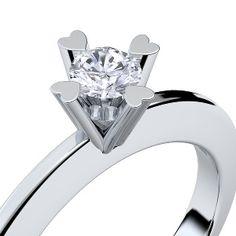 Ausgefallene diamantringe  Two Diamond Ring, Double Diamond Ring, April Birthstone Ring ...