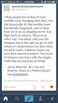 Best quote I've seen to describe living with chronic illness