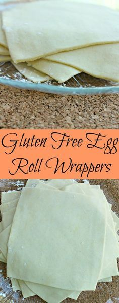 Gluten Free Egg Roll Wrappers - Not Too Shabby Gabby Gluten Free Egg Roll Wrappers. So easy to make and the best part is they taste the same as regular egg roll wrappers too! Perfect for wontons as well. Gluten Free Diet, Foods With Gluten, Gluten Free Cooking, Gluten Free Chinese Food, Gluten Free Breads, Best Gluten Free Bread, Gluten Free Crackers, Gluten Free Tortillas, Gluten Free Donuts