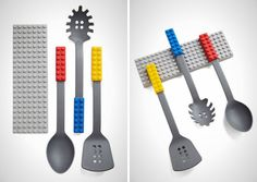 How fun is this LEGO cooking utensil set?