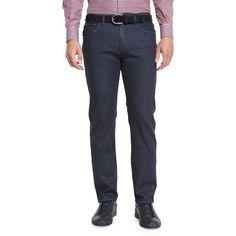 Ermenegildo Zegna Five-Pocket Dark-Wash Stretch-Denim Jeans ( 395) ❤ c5c080f3683