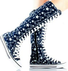 converse lace up knee high...star women sneakers