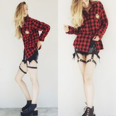 Cool Patch Flannel from High Heel Suicide