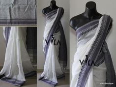 Linen sarees directly from the weavers, we can make an combinations as requested by you, here are some collections from VIKA Trendy Sarees, Stylish Sarees, Saree Dress, Sari, Saree Jewellery, Saree Blouse Neck Designs, Fashion Illustration Sketches, Saree Models, Elegant Saree