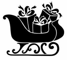 Pochoir Adhésif 18 x 16 cm TRAINEAU NOEL Christmas Decals, Christmas Stencils, Christmas Svg, Christmas Pictures, Christmas Decorations, Christmas Ornaments, Machine Silhouette Portrait, Silhouette Clip Art, Stencil Painting