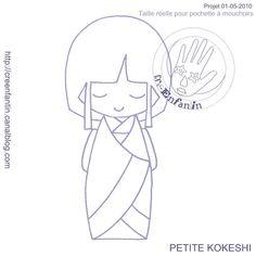 Motif de kokeshi