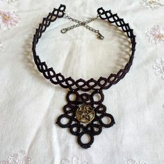 Hey, I found this really awesome Etsy listing at https://www.etsy.com/listing/566411315/tatted-pentagram-choker