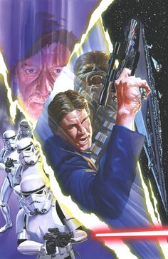 "Star Wars: ""Star Wars - Limited Edition Giclée on Paper by Alex Ross Poster featuring Han Solo and Chewbacca. Darkhorse Comics, Alex Ross, Marvel Comics, Star Wars Comics, Ace Comics, Star Trek, Star Wars Art, Comic Book Artists, Comic Books Art"
