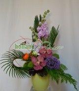 Aranjament cu orhidee mathiola si trachelium Plants, Plant, Planets