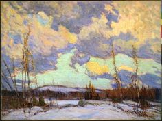 March Evening, Northland, 1914 by J. MacDonald on Curiator, the world's biggest collaborative art collection. Emily Carr, Canadian Painters, Canadian Artists, Landscape Art, Landscape Paintings, Group Of Seven Paintings, Tom Thomson Paintings, Jackson, Virtual Art
