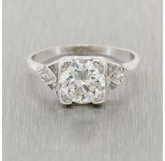Estate Platinum 1.28 Ct. Diamond Ring