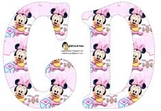 Alphabet Letters Design, Alphabet And Numbers, Alfabeto Disney, Alice In Wonderland Party, Minnie Mouse Party, Pooh Bear, Mickey Minnie Mouse, Writing Paper, Birthday Party Decorations