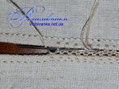 Podillya embroidery on one single air loop Hand Embroidery Stitches, Embroidery Patterns, Master Class, Needlework, Projects To Try, Hair Accessories, Sewing, Stitching, Antique Lace