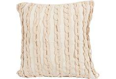 African Chains Crochet Pillow