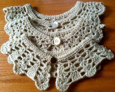 beautiful lace wool collar