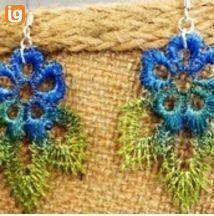 Lace Earrings- OOAK