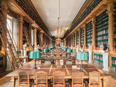 Inside a reading room in the Bibliothèque Mazarine in Paris, France Photographed by Franck Bohbot [[MORE]] Mirror here and an alternative angle here. Travel Around The World, Around The Worlds, Library Architecture, Architecture Design, Old Libraries, Bookstores, Public Libraries, Beautiful Library, Paris France