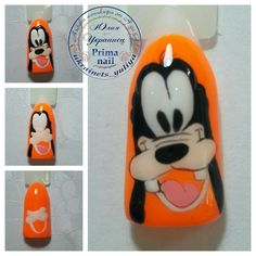 Nail Art Hacks, Gel Nail Art, Nail Art Diy, Nail Manicure, Diy Nails, Cartoon Nail Designs, Animal Nail Designs, Nail Art Designs, Cute Nail Art
