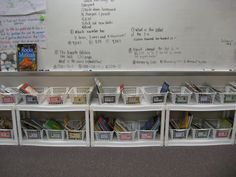 wal-mart cheapie shelves taken apart - line up underneath bulletin board wall and front of the room for classroom library and use school bookshelves for teacher desk materials. no teacher desk Classroom Layout, Classroom Organisation, First Grade Classroom, Teacher Organization, Classroom Design, Kindergarten Classroom, School Classroom, Classroom Decor, Classroom Management