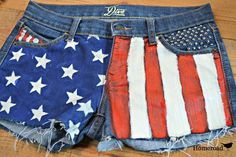 diy patriotic jean shorts, crafts, patriotic decor ideas, seasonal holiday decor, Gorgeous they ll be the hit of the party