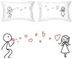 BOLDLOFT From My Heart to Yours Couples Pillowcases $30  #valentineday #gifts #couplegifts