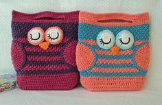Mini Sleepy Owl Bag by Karla Sandoval | Crocheting Pattern - Looking for a crocheting pattern for your next project? Look no further than Mini Sleepy Owl Bag from Karla Sandoval! - via @Craftsy