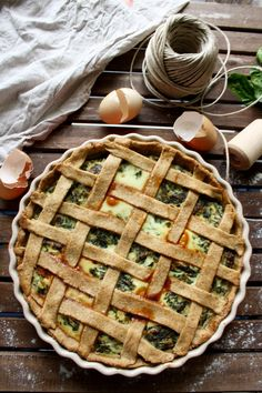 The Best Rustic Ricotta Spinach Quiche: Easy and healthy 1-hour recipe of the best ever spinach quiche with whole wheat crust and creamy spinach ricotta filling.