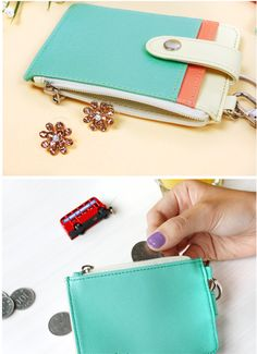 Pastel Coin & Card Wallet