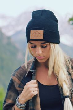 ☾✩ I'm obsessed with this Utah Live Elevated Beanie by Lady Scorpio ✩ Save 25% off all orders with code PINTERESTXO at checkout | Mountain Adventure Fashion Accessories Hats Caps Shop Now LadyScorpio101.com | @LadyScorpio101 | Photography by Tim Johnson @LifesDadventures Model Alexa Halladay