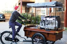 """davewellbeloved: """"Now this is how to bring coffee and cycling together. """""""