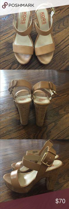 Michael Kors Shoes Kors Michael Kors cork platform heels KORS Michael Kors Shoes Heels