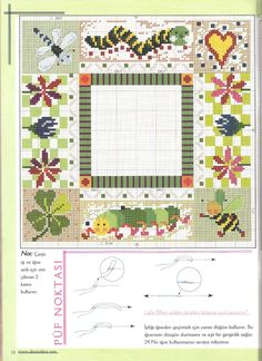 Gallery.ru / Фото #40 - Kanavice №7 2006 - tymannost Cross Stitch Borders, Cross Stitch Charts, Kids Rugs, Quilts, Blanket, Caterpillar, Ph, Watch, Gallery